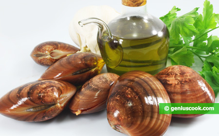 Ingredients for Sauté with Clams