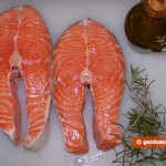 Ingredients for Steamed Salmon with Rosemary