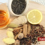 Ingredients for grog with rum and spices