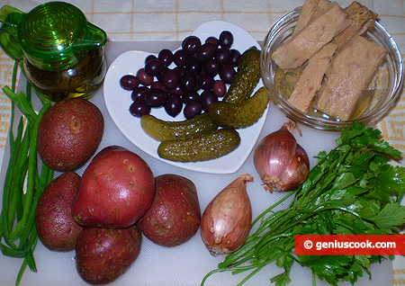 Ingredients for Potato salad with tuna