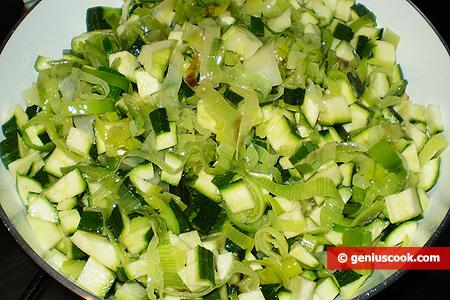 Add zucchini cubes