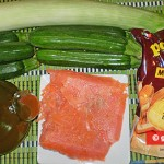 Ingredients for Polenta with Salmon