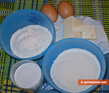 Ingredients for Coconut Cookies