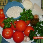 Ingredients for Tomatoes Stuffed with Rice