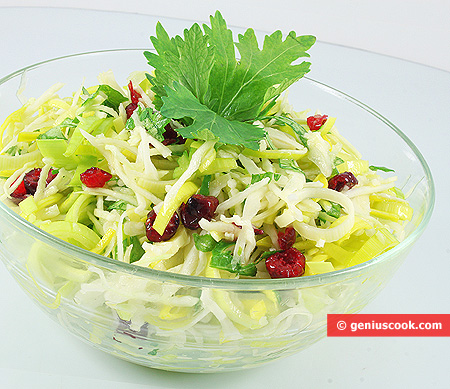 Cabbage Salad with Cranberry and Celery