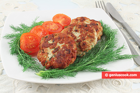 Chicken Cutlets with Greens and Cheese
