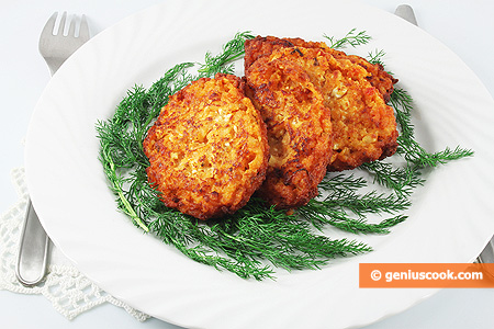 The Rice Fritters with Cheese