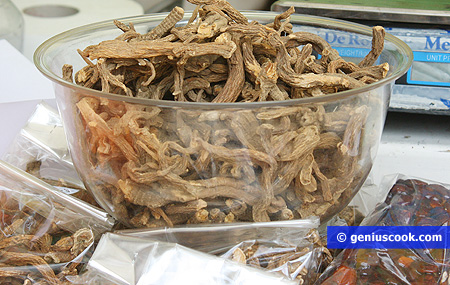 Gentian root, is used for liqueurs