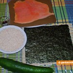 Ingredients for Sushi with Smoked Salmon