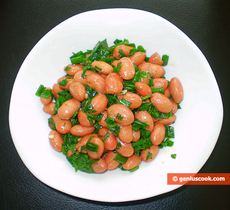 Kidney Beans Salad with Parsley and Spring Onion