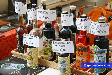 The local liquor made ​​from natural products