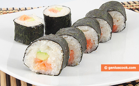 Sushi with Smoked Salmon