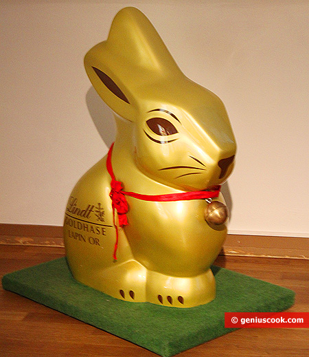 Christmas chocolate bunny
