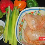 Ingredients for Chicken Legs Stewed with Olives