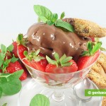 Chocolate Cream Dessert with Strawberry