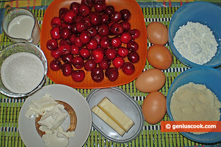 Ingredients for Cherry Clafouti