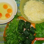 Ingredients for Frittata with Spinach