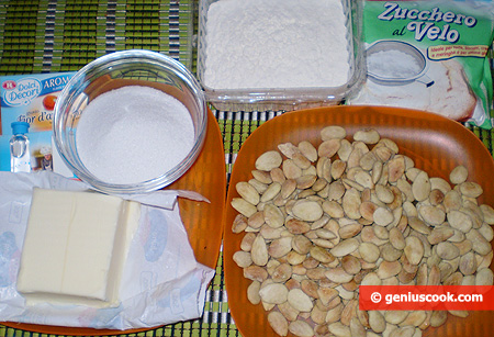 Ingredients for Almond Crescent Rolls