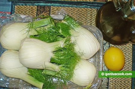 Ingredients for Fennel Salad