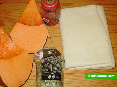 Ingredients for Crostata with Pumpkin and Anchovy