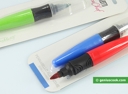 Pens with edible food paint