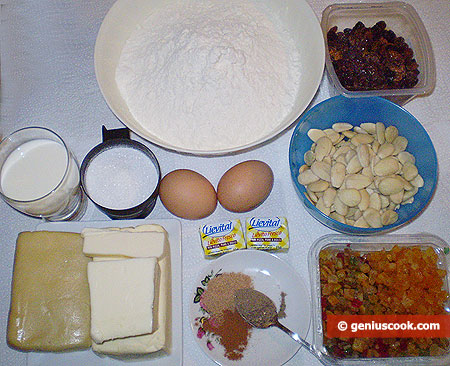 Ingredients for Almond Stollen