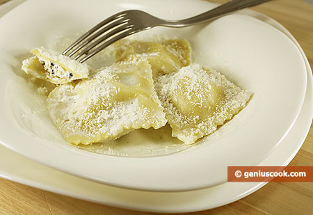 Ravioli with Truffles and Ricotta