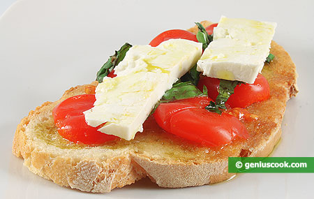 Bruschetta with Tomatoes and Goat Cheese
