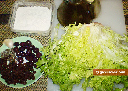 Ingredients for Pizza Calzone
