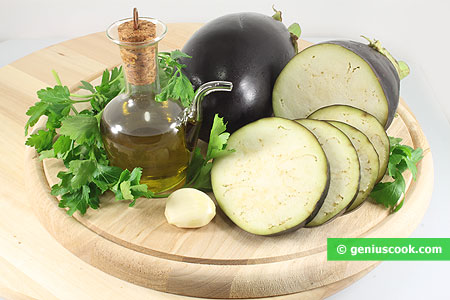 Ingredients for Bruschetta with Eggplant