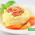 Mashed Potatoes with Smoked Salmon