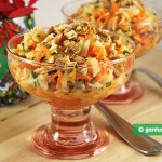 Jerusalem Artichoke Salad with Carrots and Walnuts