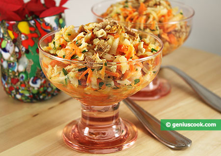 Jerusalem Artichoke Salad with Carrots and Walnuts