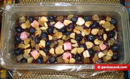 Put fruit and nuts on top