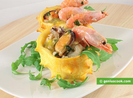 Seafood Cocktail Salad with Kiwano
