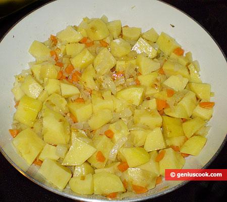 Add the potatoes