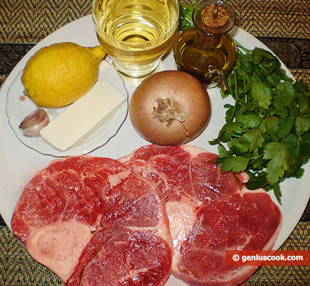 Ingredients for Ossobuco alla Milanese