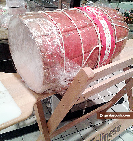 huge mortadella