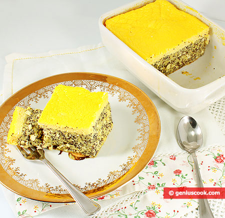 Cottage Cheese Pudding with Poppy Seeds