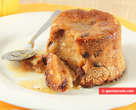 Chestnut Pudding with Raisins