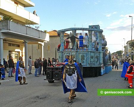 Coming carnival procession