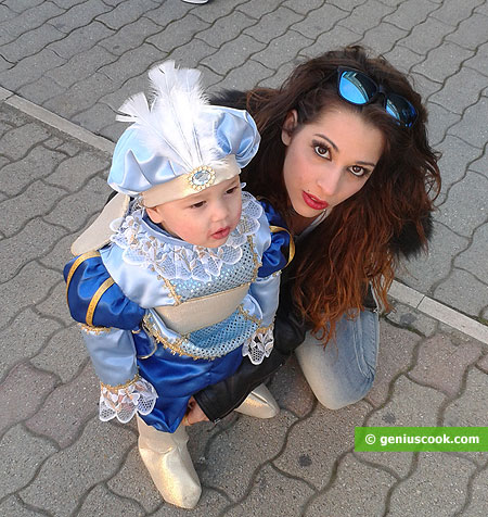 Beautiful mother and adorable kid