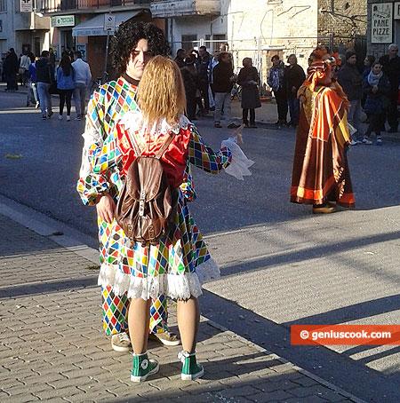 A couple in a clown suit