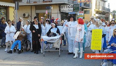 A strange group of doctors, nuns, patients