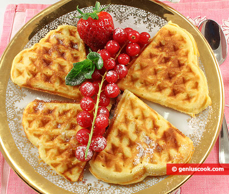 Soft Waffles with Ricotta