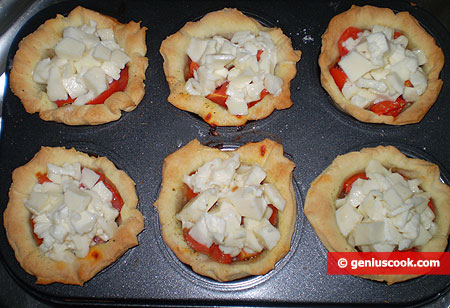 add slices of mozzarella