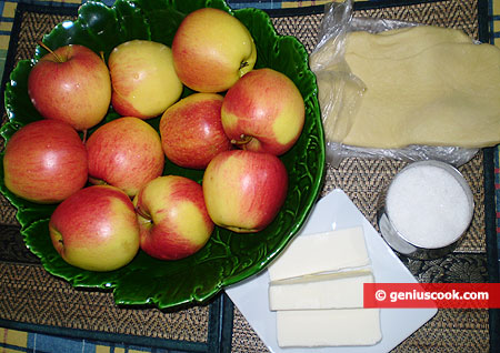 Ingredients for Tarte Tatin