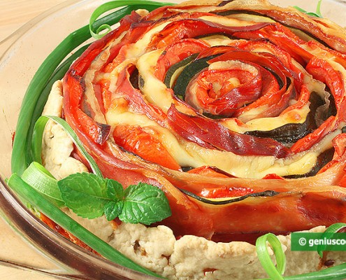 Vegetable Casserole with Ham and Cheese