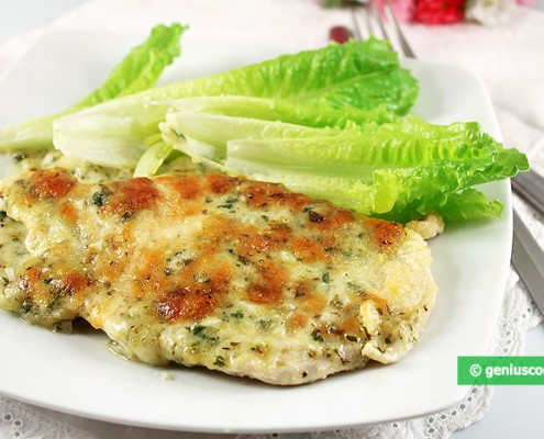 Chicken Breast Baked with Mozzarella