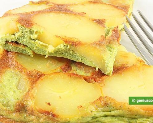 Frittata with Potatoes and Pesto Sauce